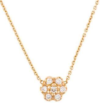 ginette_ny 18K Diamond Flower Pendant Necklace