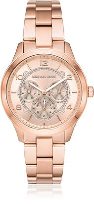 Michael Kors Runway Rose Gold-Tone Multi-function Watch