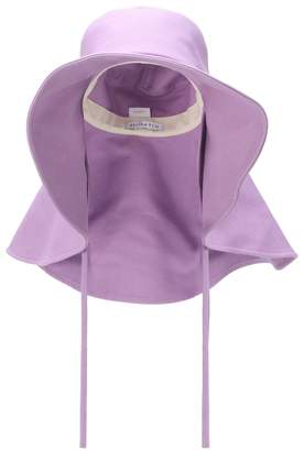 REJINA PYO Daisy cotton-blend denim hat