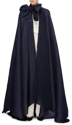 Leal Daccarett 'Aura' bow tie neck silk organza cape