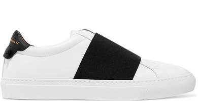 Givenchy - Elastic-trimmed Leather Sneakers - White