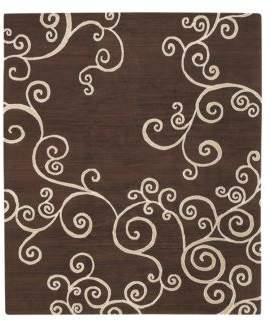 Of A Kind Tufenkian Artisan Carpets Zephyr Chocolate Pearl Area Rug, 8' x 10'
