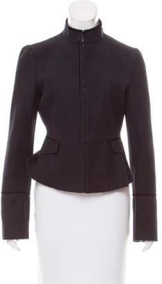 Alessandro Dell'Acqua Velvet-Trimmed Wool Jacket