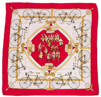 One Kings Lane Vintage HermAs Les Becanes Silk Scarf - Vintage Lux