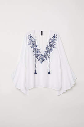 H&M Blouse with embroidery