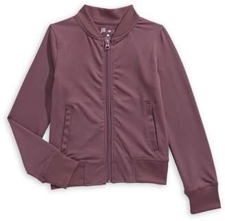 Jill Yoga Girl's On The Go Jersey Bomber Jacket