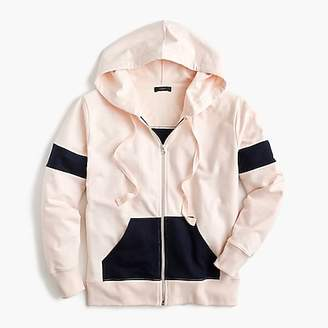 J.Crew Colorblock zip-up hoodie sweatshirt