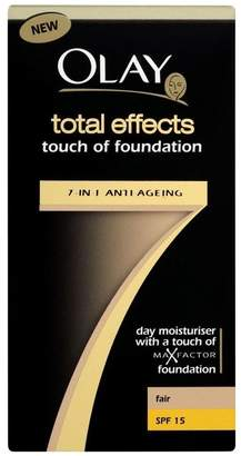 Olay Total Effects 7in1 Touch of Foundation with SPF 15 - Fair (50ml) - Pack of 6