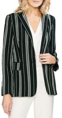 Vince Camuto Daybreak Striped One-Button Blazer
