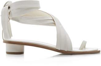 Tibi Miles Pleated Leather Sandals