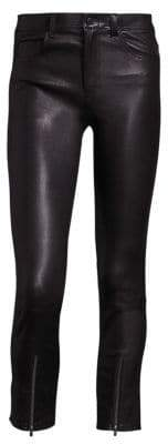 Helmut Lang Zip Cropped Leather Leggings