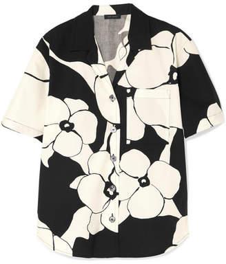 Marc Jacobs Floral-print Cotton Shirt - Black