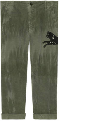 Gucci Marbled corduroy chino