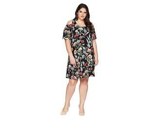 Karen Kane Plus Plus Size Cold Shoulder Dress Women's Dress