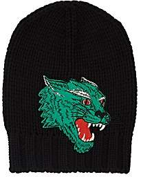 Gucci Men's Roaring-Tiger-Appliquéd Wool Beanie - Black