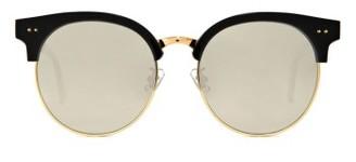 Women's Gentle Monster Moon Cut 55Mm Sunglasses - Black/gold $274 thestylecure.com
