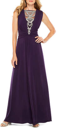 Melrose Sleeveless Embellished Evening Gown