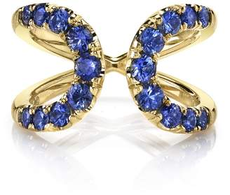 ARK Fine Jewelry Blue Sapphire Quantum Ring - Yellow gold