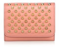 Christian Louboutin  Christian Louboutin Macaron Mini Studded Leather Wallet