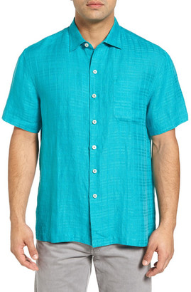 Tommy Bahama The Big Bossa Short Sleeve Linen Sport Shirt (Big & Tall) $120 thestylecure.com