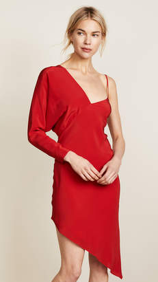 Michelle Mason One Sleeve Dress