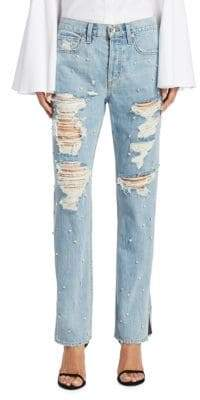 Jonathan Simkhai Studded Boyfriend Jeans
