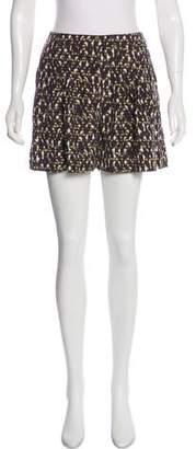 Halston Printed Mini Shorts