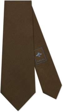 Gucci Wolf heads underknot silk tie