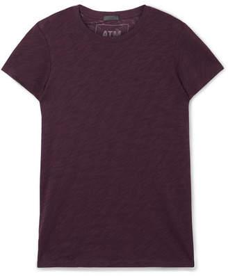 ATM Anthony Thomas Melillo Schoolboy Stretch Slub Cotton-jersey T-shirt - Burgundy
