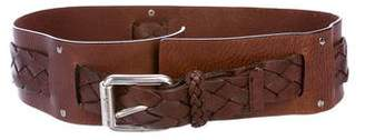MICHAEL Michael Kors Woven Leather Belt