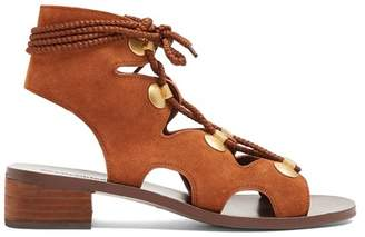 See by Chloe Lace-up block-heel suede sandals