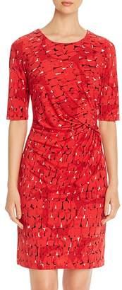Nic+Zoe Printed Twist-Front Dress