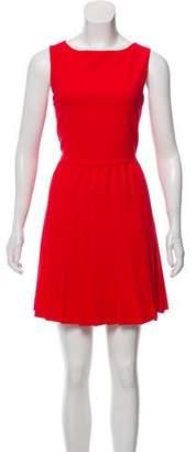 Alice + Olivia Pleated Sleeveless Dress