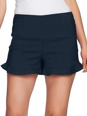 1 STATE 1.STATE Flat Front Ruffled Shorts