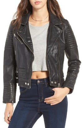 Women's Topshop Elton Quilted Leather Jacket $360 thestylecure.com