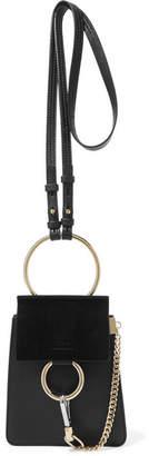 Chloé Faye Bracelet Leather And Suede Shoulder Bag - Black