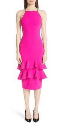 Christian Siriano Ruffle Trim Cocktail Dress