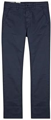 Nudie Jeans Adam Navy Slim-leg Chinos