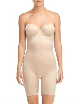Spanx Suit Your Fancy Strapless Cupped Mid Thigh Bodysuit
