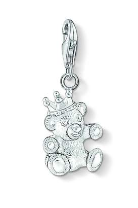 c18a655d275 Thomas Sabo Jewellery Ladies Sterling Silver Charm Club Teddy Bear Charm  1322-001-12
