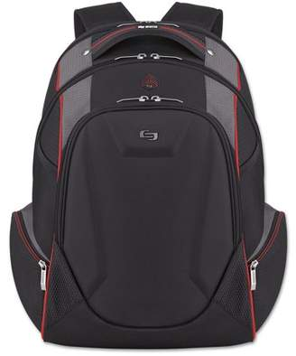 """Solo Launch Laptop Backpack, 17.3"""", 12 1/2 x 8 x 19 1/2, Black/Gray/Red -USLACV7114"""
