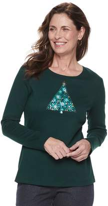 Croft & Barrow Women's Holiday Long-Sleeve Top