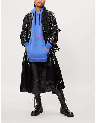 Koche Belted PVC trench coat