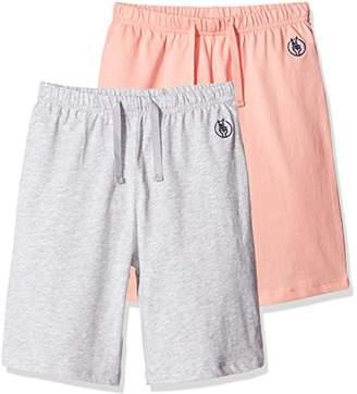 Kid Nation Kids 2 Packs 100% Cotton Lightweight Jersey Casual Elastic Short XL ...