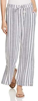 Bella Dahl Slit Wide-Leg Stripe Pants