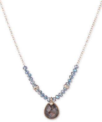 """lonna & lilly Gold-Tone Stone & Bead Pendant Necklace, 16"""" + 3"""" extender"""