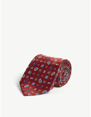 Etro Floral paisley print silk tie