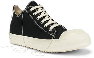 Rick Owens Low-Top Sneakers in Black | FWRD