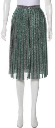 Misha Collection Metallic Pleated Skirt