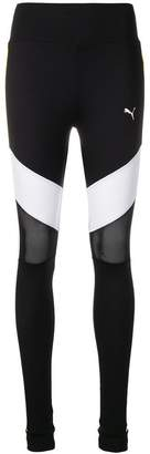Puma colourblock mesh insert leggings